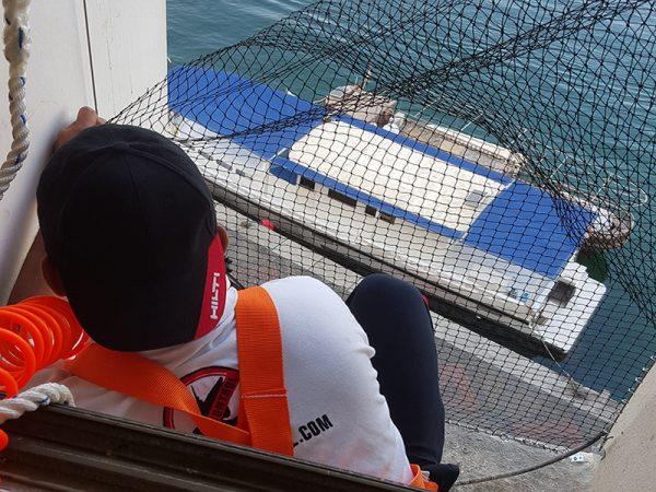 sbm bird control team installs bird netting at Dubai creek